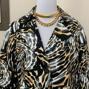 Rafaella Multi Animal Print Jacket Blazer